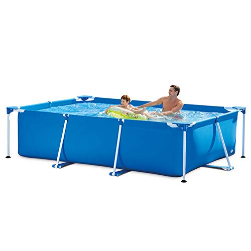 Piscina Rectangular Inflable Familiar, 220x150x60cm, Azul