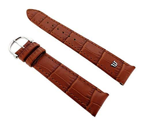 Maurice Lacroix Kroko Grain Original - Correa para reloj (20 mm, hebilla de acero), color marrón claro