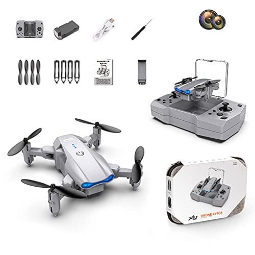 NICERAM Quadcopter, Mini Dron Plegable 4K HD Altura Fija Control Remoto Aviones Cámara Dual Soporte para fotografía aérea Transmisión de imágenes en Tiempo Real