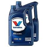 VALVOLINE 2 x Aceite de Motor Motor Motor Motor Aceite Gasolina Diesel líquido Gas All Climate 15W-40 5L