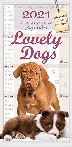 calendario agenda cuccioli di cani 2021 cm 22x44