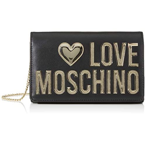 Love Moschino Jc4248pp0a, Pochette da Giorno Donna, Nero (Black Calf), 7x13x22 cm (W x H x L)