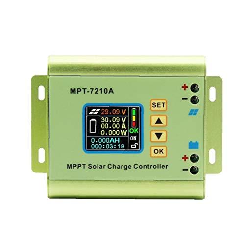 xiaocheng MPPT Solar de la Carga del Controlador MPT-7210A Pantalla LCD 24V 36V 48V 60V 72V 10A Ajustable para la batería de Litio Kit de Trabajo de Bricolaje Industrial
