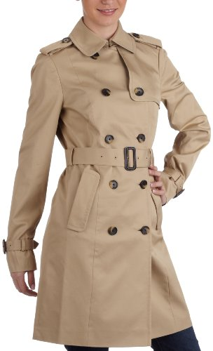 Tommy Hilfiger Classic Trenchcoat 1M50525341 Chaqueta, Beige (Colebrook), 50 para Mujer