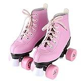 ローラースケートユニセックスローラースケートローラースケートクラシックハイトップレザーローラースケートダブルロウレディースクラシックローラースケートアドバンスドスケート