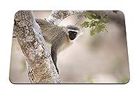 22cmx18cm マウスパッド (サルの木の枝) パターンカスタムの マウスパッド
