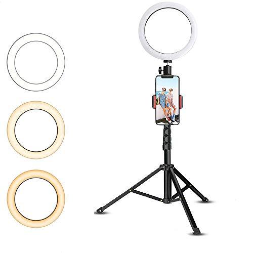 Ringlicht met statief, led-verlichtingsset, USB-selfie-licht voor videofotografie, compatibel met smartphone, 150 cm