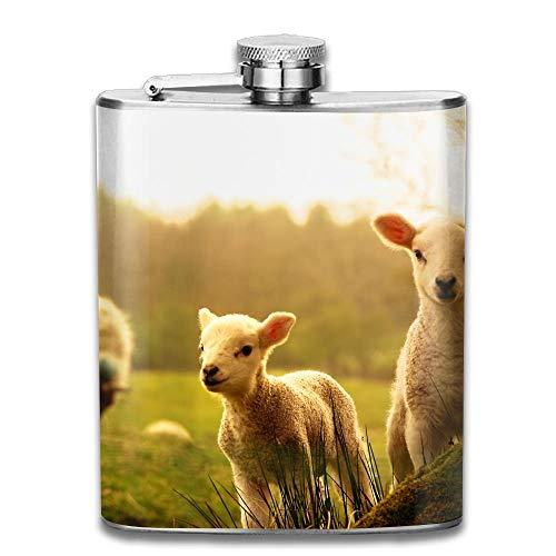 iuitt7rtree Sunshine Alpaca Portable Stainless Steel Flagon Liquor Flask