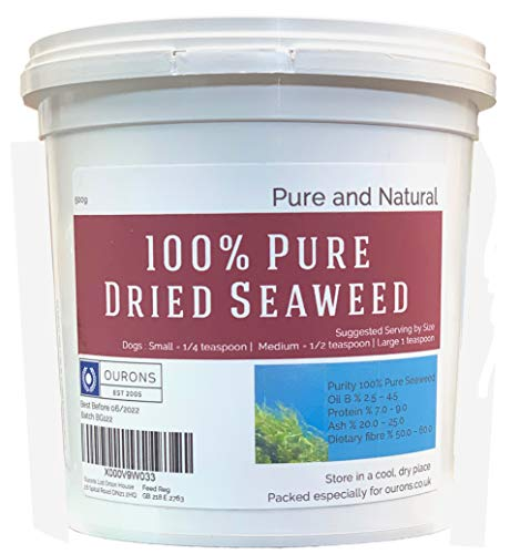 Ourons Seaweed For Dogs 500g Tub of Dried Kelp