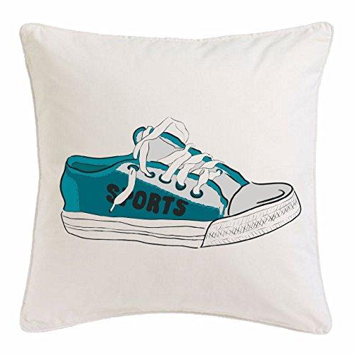 Bandenmarkt kussensloop 40x40cm gymschoenen sportschoenen voetbalschoenen loopschoenen schoenen schoenen gymschoenen sportschoenen voetbalschoenen loopschoenen schoenen van microvezel in wit