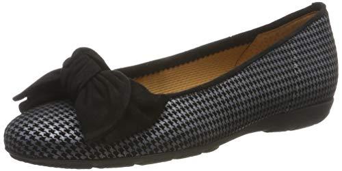 Gabor Shoes Gabor Casual, Ballerines Femme, Gris (Grau/Schwarz 39), 42 EU