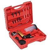 vidaXL Kit Purgador Frenos Bomba Vacío + Manómetro + Mangueras + Adaptadores Set Sangrado Purgado Drenaje Hidráulico Comprobador Presión Vacuómetro