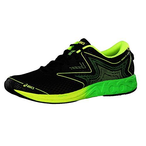 Asics T772N, Zapatillas de Running Hombre, Multicolor (Black/Green Gecko/Safety Yellow), 45 EU