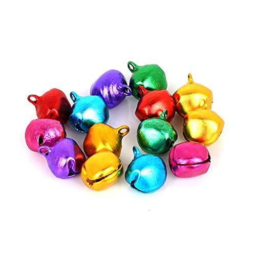 QQINGHAN Elegir 6mm 8mm 10 mm 12mm 14mm Mezcla Colores Sueltos Cuentas Sueltas Jingle Bells Navidad Decoración Regalo al por Mayor (Color : 14mm 30pcs)