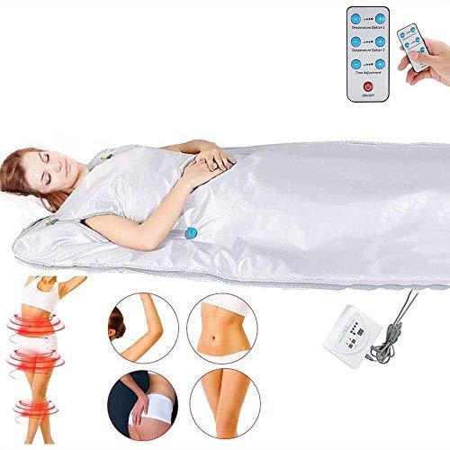 DEDC Digital-Ferninfrarot (FIR) Oxford Saunadecke, 2 Zone verbesserte Version Reißverschluss Typ Gewichtsverlust Body Shaper Professionelle Detox Therapie Anti Aging Schönheitsmaschine