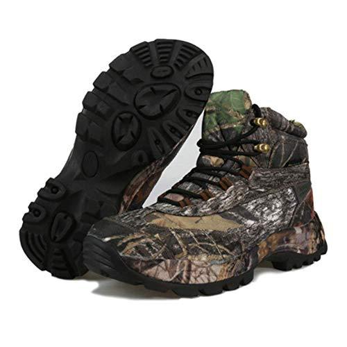 FACAI Trekking Zapatos Deportivos De Escalada Zapatos De Senderismo Al Aire Libre para Hombre Botas Tácticas Deportes De Invierno Camuflaje,Black-42