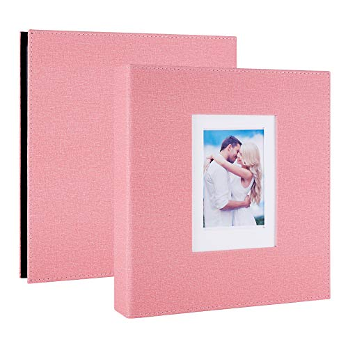 Artmag Photo Album 4x6 1000 Pockets Linen Cloth Extra Large Big Capacity Picture Albums Holds 1000 Horizontal and Vertical Photos for Family Wedding Pink