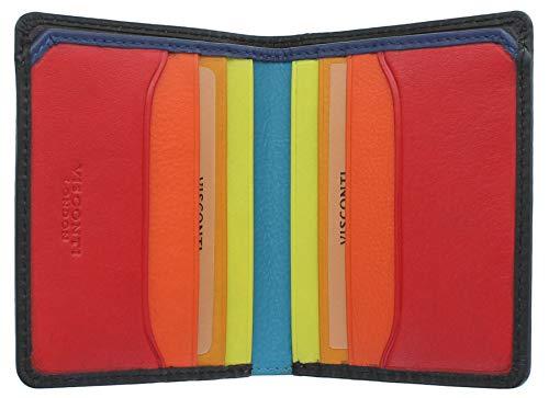 Visconti Spectrum collectie Alder lederen portemonnee met RFID en tik en ga SP60
