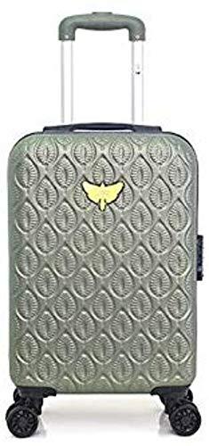 Les Petite Bombes - Maleta de Mano para Equipaje de Mano, Resistente, Ligera, para Easyjet, Ryanair, Air France y Plus Verde Caqui Small