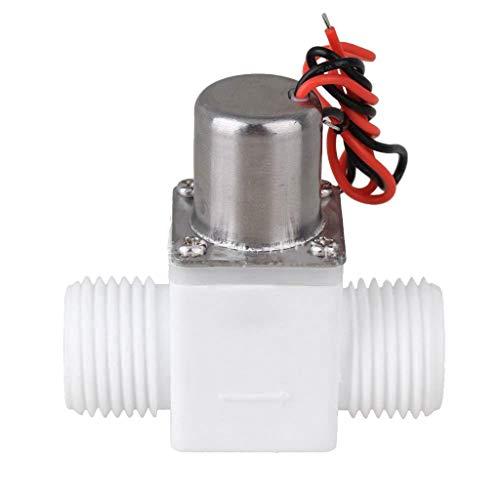 Ontracker Válvula solenoide de 1/2 pulgadas CC 3 V, de plástico, regulación de agua eléctrica para grifo