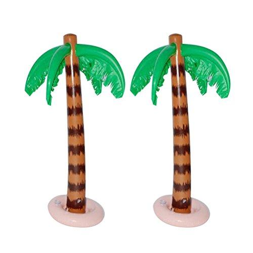 YeahiBaby 2 stücke Aufblasbare Palme Kokospalmen Strand Hintergrund Dekoration Hawaii Luau Sommer Party Favors