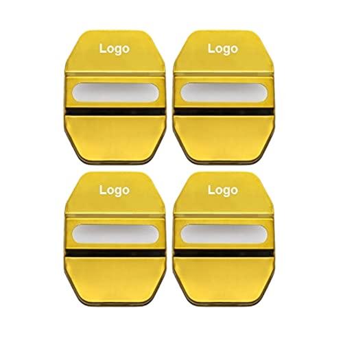 Cubiertas de Cerradura de Puerta de Coche para Mercedes Benz Clase AMG CEAMS CLA GLA GLS GL Maybach GLE GLS GLC GLK W203 Emblema Insignia Accesorios Oro