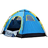 Jumix Family Camping & Hiking Tent/All Weather Dome Backpacking Tent (Waterproof, with Floor Mat & Net Window), 6 Person