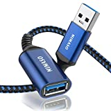 Nimaso USB 延長ケーブル USB3.0規格 0.5m (タイプAオス - タイプAメス) USB 延長 コード (ブルー)