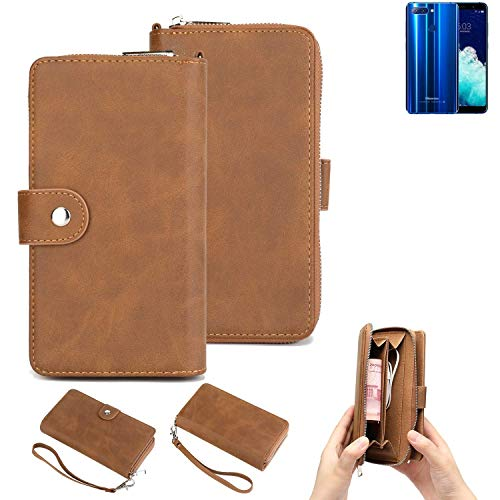 K-S-Trade Handy-Schutz-Hülle Für Hisense Infinity H11 Pro Portemonnee Tasche Wallet-Hülle Bookstyle-Etui Braun (1x)