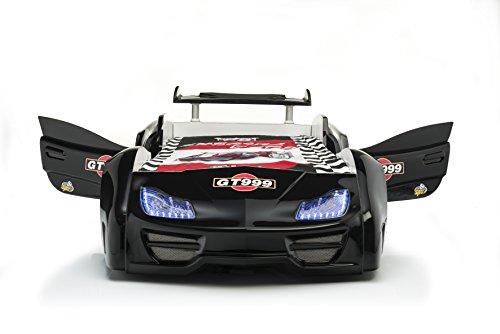 Das Beste Geschenk Super geiles Autobett Kinderbett GT 999 in schwarz mit Türen und kompletter Ausstattung von Möbel-Zeit mit schneller Lieferzeit und kostenlosen Lieferung