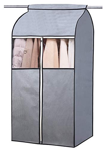 "MISSLO 43"" Hanging Clothes Cover Suit Covers Garment Bags dustproof Coats Dress Jackets Protector Storage for Wardrobe Rail Cover"