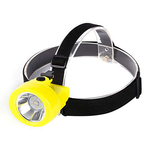 Hunting Friends Safety Mining Lamp, Rechargeable Headlamp Miners LED Coon Hunting Lights KL2.8LM Waterproof Camping Lights Hard Hat for Night Running Fishing Explosion-Proof