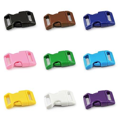 Fermeture par clip (15 mm) pour Paracord bracelet, colliers de chien, sac à dos