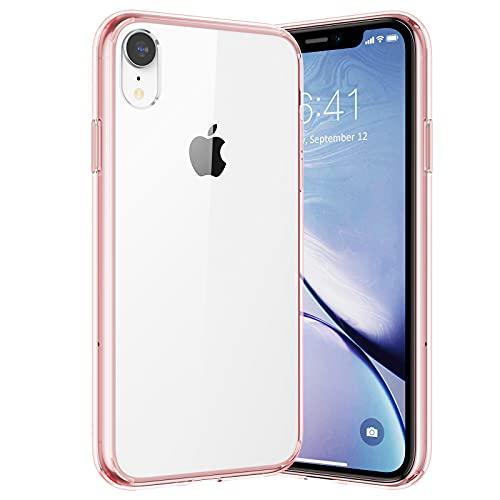 UNBREAKcable Cover Compatibile con iPhone XR - [Anti Ingiallimento & Anti Graffio] Custodia per iPhone XR 6.1'' - Trasparente(Rosa)