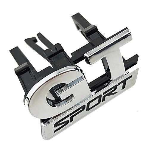 LSYBB ABS GT Sport Kühlergrill Emblem Aufkleber Aufkleber Chrom für Volkswagen VW Polo Golf Passat B5 Touran Bora