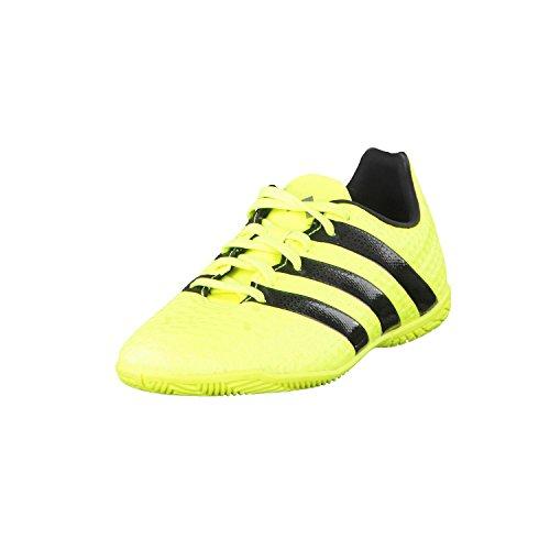 adidas Ace 16.4 In J, Unisex Kid's Multisport Indoor Shoes, Yellow (Solar Yellow/Core Black/Silver Met), 5.5 UK (38 2/3 EU)