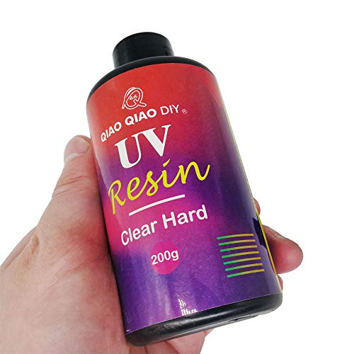 Epoxy UV Resin Clear Hard,ONGHSD UV Resin Hard Type Sunlight Ultraviolet Curing Resin UV Epoxy Resin Crystal Clear Transparent Glue for DIY/Kids Crafts Jewelry Making Casting & Coating (200g/7.05oz)
