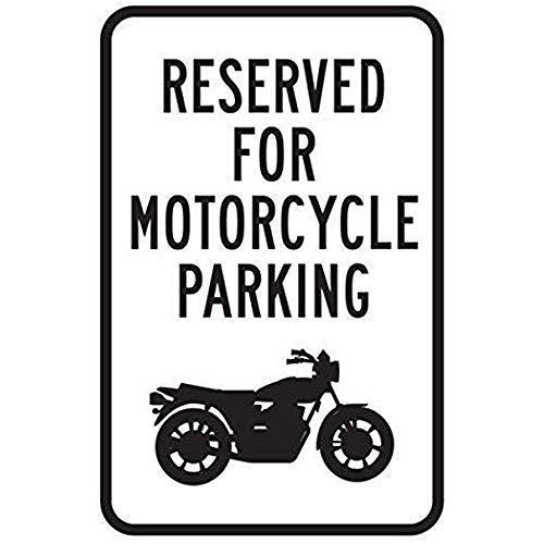 BDTS Rustieke Metalen bord Post Gereserveerde Motorfiets Alleen Parkeren Geen Auto's Metalen Tin Teken 8x12 inch
