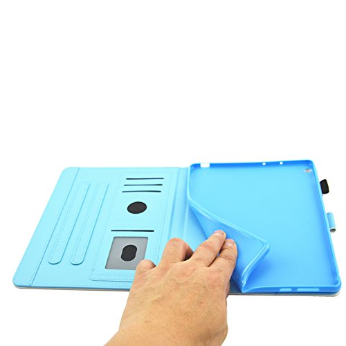 HUDDU Verträumter Schmetterling Schutzhülle für Huawei MediaPad M3 Lite 10 (10,1 Zoll) Hülle Flip Tasche Leder Smart Case Lightweight Cover mit Stand Kartenfach Magnetverschluss Notebook Lederhülle - 5