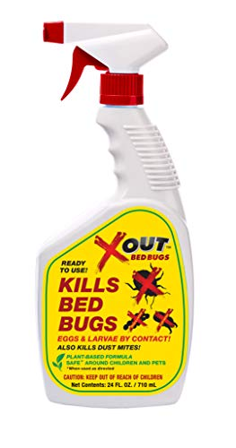 X-Out Bed Bug, Dust Mite and Flea Killer Spray - Non-Toxic - 24 oz