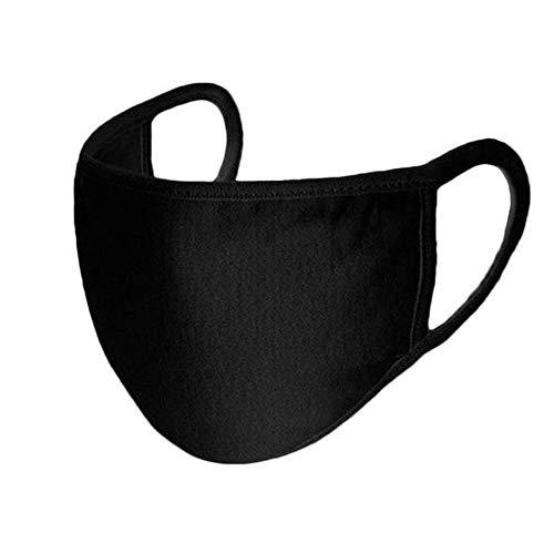 VONETTI 50 Stoffmasken waschbar- Mundschutz Maske in Einheitsgröße (Schwarz, 50)