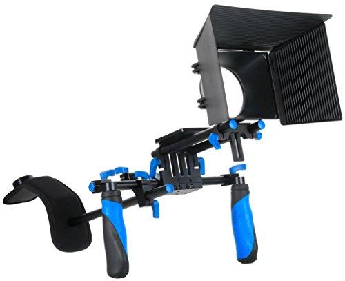 SunSmart DSLR Rig Movie Kit Shoulder Mount Rig with Matte Box for All DSLR Cameras and Video Camcorders