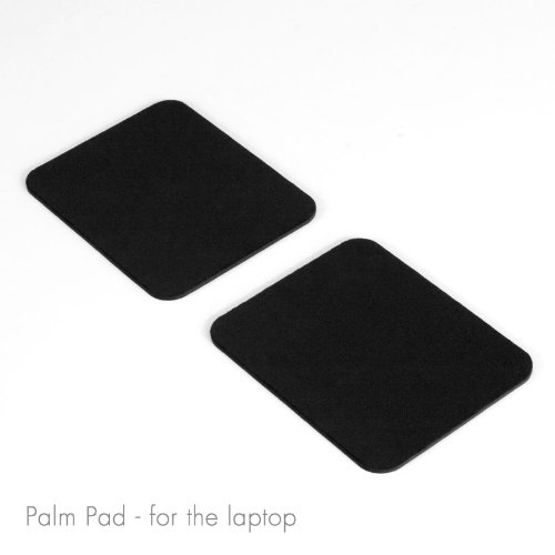 GRIFITI Large Slim Palm Pads Notebook Wrist Rests and Laptop Wrist Pads Made with Silicone to Easily Reposition and Remove while Travelling (2 Large 4 x 3.12 inches) Photo #2