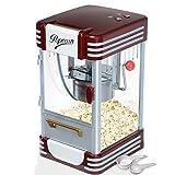 Jago® Machine à Popcorn - 60L/h, 200g/10min, avec Casserole en Acier Inoxydable, pour Maïs Soufflé Sucré et Salé, Look Rétro Années 50 - Machine à Maïs Soufflé, Popcorn Maker