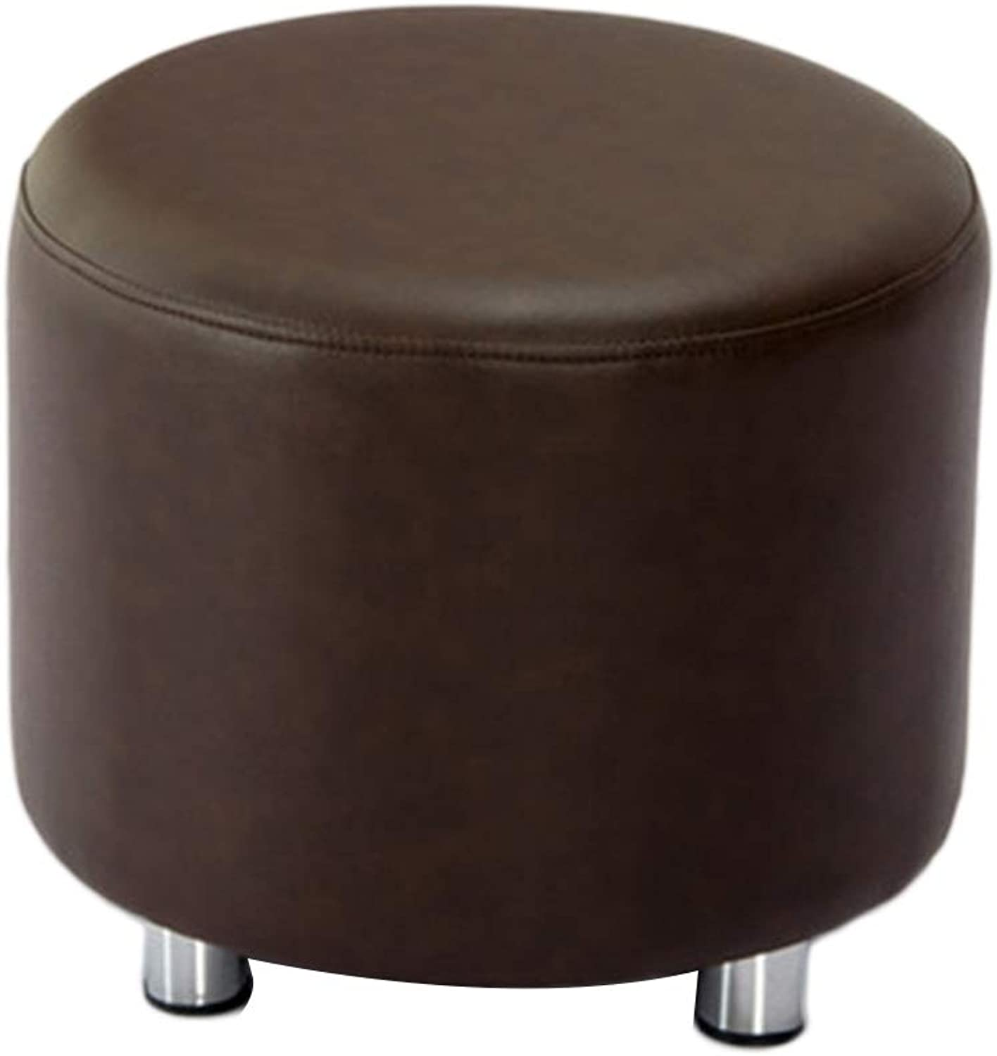 Stools Stool Bedroom Round Stool Test shoes Stool Living Room Sofa Stool Corridor Change shoes Stool Dressing Table Stool (color   H, Size   42  35cm)