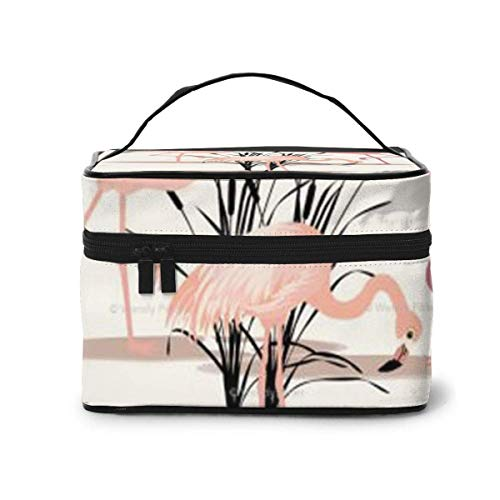 Flamingo Travel Cosmetic Case Organizer Portable Artist Storage Bag, Multifunction Case Toiletry Bags-T44-35