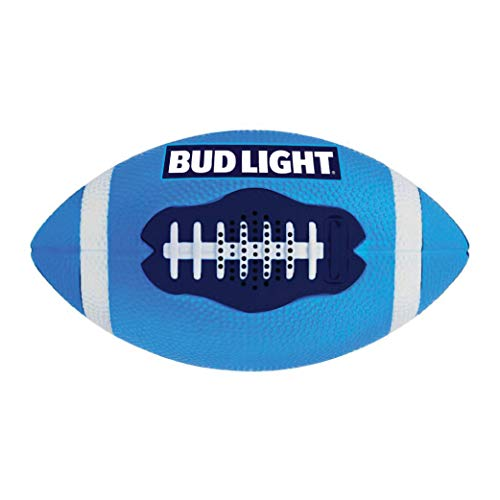 Bud Light Football Bluetooth Speaker with True Grip Feel, IPX6 Waterproof, Rechargeable Battery, HD Sound