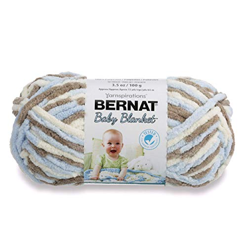 Bernat Baby Blanket Yarn, 3.5 oz, Gauge 6 Super Bulky, Little Cosmos