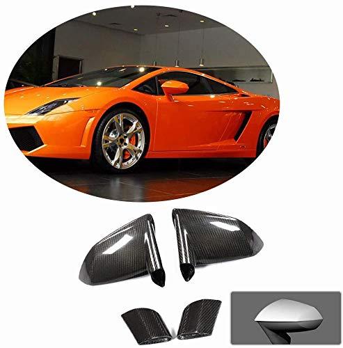 XTT per Lamborghini Gallardo LP550 LP560 LP570 2009-2014 Ricambio Dry Copri specchietti retrovisori in Vera Fibra di Carbonio LHD