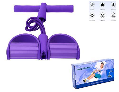 YEH-KC 4 Tubes Bodybuilding Expander Resistance Band fitnessbänder widerstandsbänder er Set für Muskelaufbau Yoga Pilates SportgeräTe Taille Arm Beintrainer Tragbare Zuhause Gym GeräT FüR Fitness